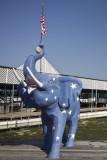 The blue elephant at the marina...