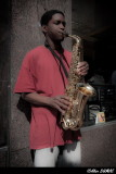 Teenager Sax Player