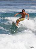 Surfing action at San Juan, La Union