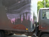 Delivery Truck City Scape