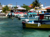 Arriving at Isla Mujeres ferry terminal