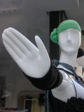Talk to the mannequin hand