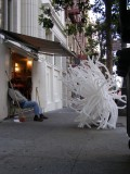 Mason Street Shoeshine with balloon sculpture