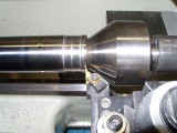 Fork tube mod done on the lathe at Traxxion