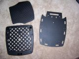 OHFJR rack (right), Givi E250 universal mount and cover