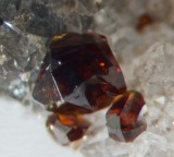 Gemmy sphalerite crystals on quartz, Admiralty Flats, Nentsberry Haggs, Alston Moor.