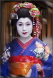 Maiko in blue