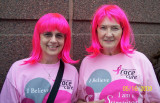 Veronica and friend Mary Race for the Cure 2009