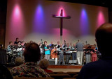 THE CHOIR SINGING DURING THE SUNDAY MORNING WORSHIP SERVICE AT THE FIRST BAPTIST CHURCH OF GULFPORT