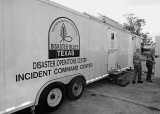WE STOPPED AT THE NORTH AMERICAN MISSION BOARD NATIONAL DISASTER RESPONSE TEAM  HEADQUARTERS, IN VIDOR, TEXAS
