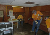 THE BASEMENT HAD BEEN FLOODED AND WAS FILLED WITH MOLD