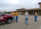 VISITING A LOCAL CHURCH THAT HAD SUSTAINED MAJOR DAMAGE
