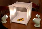 THE TABLETOP LIGHT BOX PROVIDES EVEN, DIFFUSED ILLUMINATION