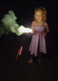 NEIGHBORHOOD CHILD WITH A SPARKLER  -  ISO 800  -  HAND-HELD AT 1/20 SECOND!