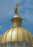 CLOSE-UP OF THE HENDERSON COUNTY COURTHOUSE  DOME