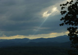 SHAFT OF SUNLIGHT IN THE BLUE RIDGE MOUNTAINS  -  ISO 80