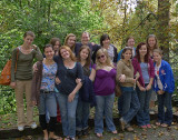 PARTICIPANTS AND LEADERS AT A HIGH SCHOOL GIRLS RETREAT  -  ISO 80