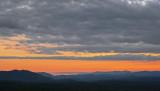 WESTERN NORTH CAROLINA MOUNTAIN SUNSET  -  ISO 80