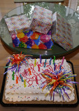 GRANDDAUGHTER'S BIRTHDAY CAKE AND PRESENTS  -  ISO 400