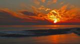 CHRISTMAS EVE 2010 SUNSET IN DESTIN, FLORIDA  -  ISO 80
