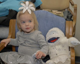 GRANDDAUGHTER ARWEN WITH HER BUILD-A-BEAR  BUMBLE