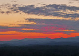 FIERY CLOUDS OVER THE WESTERN NORTH CAROLINA MOUNTAINS  -  ISO 125