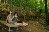 Resting in the middle of bamboo trees in Sosweawon