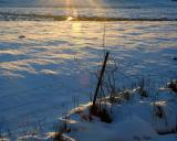 Sunlight on a Snow Covered Field