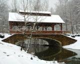 Bridge over Cove Creek in Snow