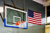 JCC Basketball Backboard ... Complete with US Flag