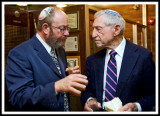 The Rabbi Mixes It Up With An Attentive Guest
