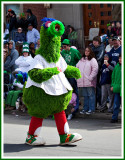 The Philly Phanatic Marching Down Wyoming Avenue