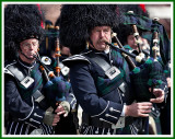 Bagpipers Tightly Cropped at the St. Patrick's Day Parade