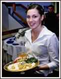 Waitress Serving At The Americanism Award Dinner Honoring Joseph Corcoran