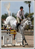 Classic Jumping Form at the Equestrian Show