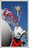 The Epcot Logo Symbol by Space Ship Earth.