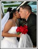 The Limosine Wedding Kiss Outside the Church