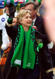 Hillary at the St. Patrick's Day Parade
