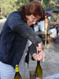 Lynda's job of popping the cork !!!