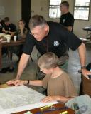 Student gets help with land navigation