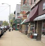 Sidewalk Scene, Pendleton, Indiana