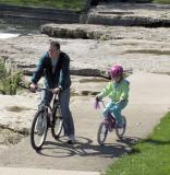Dad and Daughter, Falls Park, Pendleton, IN