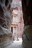 Petra, Siq entry to Khazneh / Treasury