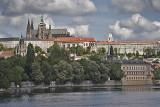 prague, river and castle