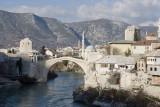 mostar, river and bridge