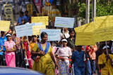 kollam, protest march