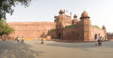 old delhi, Red Fort.  panorama