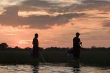 sunset, Okavango Delta