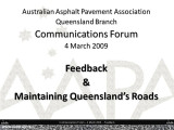 AAPA Q Communications  Forum - March 2009