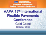 AAPA Thirteenth International Flexible Pavements Conference